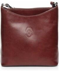 Kožená kabelka listonoška Genuine Leather hnědá