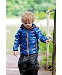 Kozi Kidz Chlapecká jarní maskáčová bunda Smidig - modrá