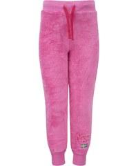 Kozi Kidz Dívčí fleecové tepláky CuddleBear - růžové