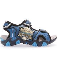 Geox Chlapecké modré svítící sandály JR Sandal Strike