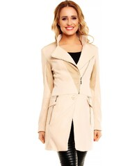Originální dámský kabát Chic et Jeune - béžový
