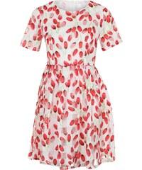 Anonyme Designers Kurzarm Kleid mit Blumenprint