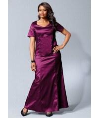 Šaty M.I.M., dvoudílný společenský komplet dlouhá sukně a halenka 40 lila