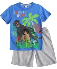 Disney Das Dschungelbuch Shorty-Pyjama grau in Größe 104 für Jungen aus 100% Baumwolle Graumelange: 85% Baumwolle 15% Viskose