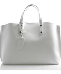 6a71d0c8cb Bílá kožená kabelka do ruky ItalY Jordana bílá
