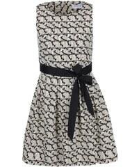 Černo-krémové šaty s ptáčky Closet