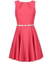 Růžové šaty s žakárovým vzorem Closet