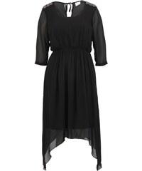 Černé šaty JUNAROSE Fair Mingus s dlouhými rukávy