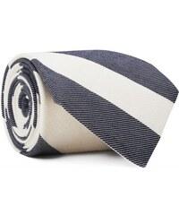 GANT Diamond G Cravate à Rayures En Sergé - White