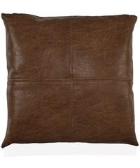 Andrea house - Polštář hnědý, koženka 45x45cm (AX65024)
