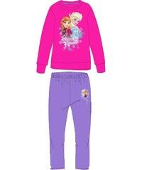 E plus M Dívčí tepláková souprava Frozen - fialovo-růžová