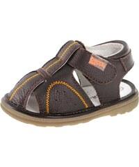 Beppi Chlapecké kožené sandály - hnědé