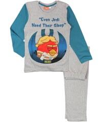 E plus M Chlapecké pyžamo Angry Birds - šedé