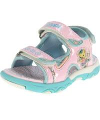 Beppi Dívčí sandály s medvídkem - světle růžové