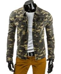 Džínová bunda Camouflage - zelená Velikost: S
