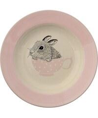 Bloomingville Polévkový talíř Baby Bunny Nude