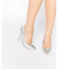 ASOS - PRICELESS - Chaussures pointues ornementées à talon haut - Argenté