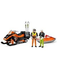 bruder® Bergrettungs-Set 4-tlg., »bworld Snowmobil, Fahrer und Rettungsschlitten mit Skifahrer«