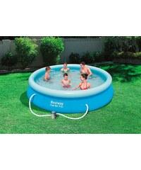 BESTWAY Set: Quick-Up Pool »Fast Set Pool«, mit Filterpumpe, ØxH: 396 x 84 cm