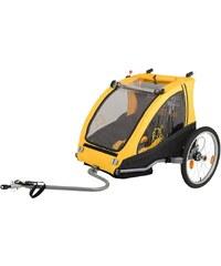 Vantly Fahrradanhänger, Kinderanhänger, gelb-schwarz, »Zweisitzer Dual«