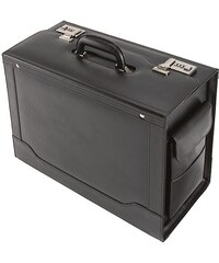Alassio® Pilotenkoffer aus Leder mit Laptopfach, »Ancona«