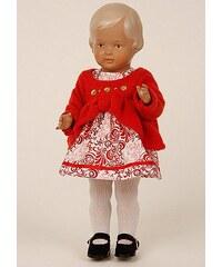 Schildkröt-Puppen Sammlerpuppe, rot, »Klassik-Puppe Christel 34 blond/braun«