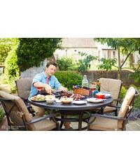 HARTMAN 9-tlg. Gartenmöbelset »Jamie Oliver I«, 4 Sessel, Tisch Ø 130 cm, Aluminium, anthrazit
