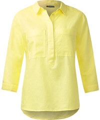 Street One Bluse mit Leinen Denise - citro yellow, Damen