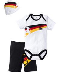 bpc bonprix collection Ensemble bébé Allemagne (Ens. 3 pces.) en coton bio, T. 56/62-92/98 noir manches courtes enfant - bonprix