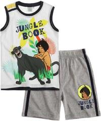 Disney Das Dschungelbuch T-Shirt und Bermuda weiß in Größe 104 für Jungen aus 100% Baumwolle Graumelange: 90% Baumwolle 10% Viskose