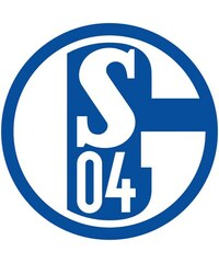 Wandtattoo Schalke 04 Logo 40/40 cm HOME AFFAIRE blau
