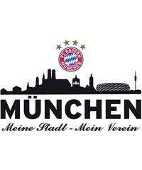 Wandtattoo FC Bayern Skyline 60/27 cm HOME AFFAIRE schwarz