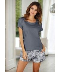 Buffalo Shorty mit gemusterter Shorts & softem Basic T-Shirt grau 32/34,36/38,40/42,44/46