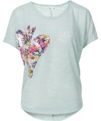 BODYFLIRT Shirt mit Applikation kurzer Arm in blau für Damen von bonprix