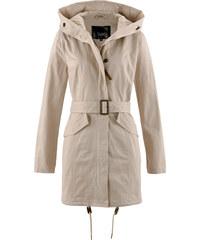 bpc bonprix collection Parka avec capuche et ceinture beige manches longues femme - bonprix