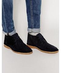 Selected Homme - Royce - Desert boots en daim - Bleu