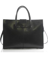 Luxusní kožená aktovka kabelka černá - Italy Gabriela černá