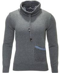 Pánský šedý svetr CARISMA s rolákem