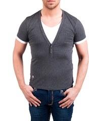 Pánské tmavě šedé tričko CARISMA