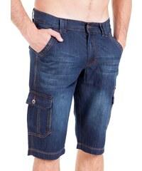 Pánské tmavé džínové kraťasy VOLCANO