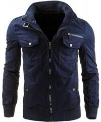 Pánská bunda Parker tmavě modrá - dark modrá