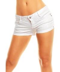 Dámské bílé jeans šortky STITCH & SOUL