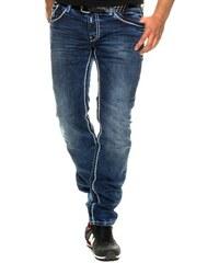 Pánské tmavé džíny RUSTY NEAL s bílými švy