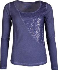 Dámské modré tričko LERROS s flitry