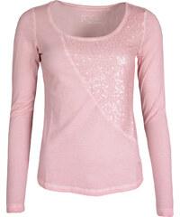 Dámské růžové tričko LERROS s flitry
