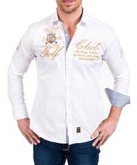 Pánská bílá slim-fit košile REDBRIDGE