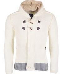 Pánský krémový svetr REROCK s kapucí