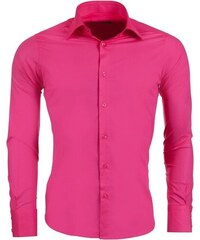 Pánská fuchsiová slim fit košile REDBRIDGE