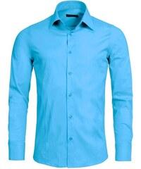 Pánská tyrkysová slim fit košile REDBRIDGE