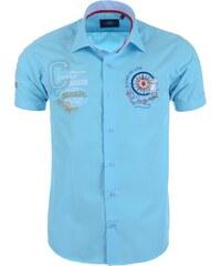 Pánská tyrkysová košile BINDER DE LUXE